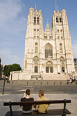 the cathedral stock photography | Belgium, Brussels, Cathedral of St. Michael and St. Gudula, image id 8-746-2890