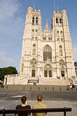the cathedral stock photography | Belgium, Brussels, Cathedral of St. Michael and St. Gudula, image id 8-746-2893