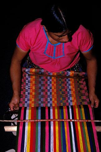 image 6-69-36 Belize, Mayan weaver