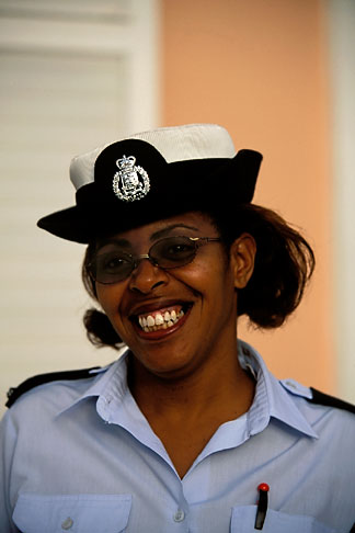 image 1-600-12 Bermuda, St George, Policewoman
