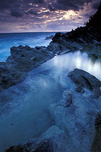 image 1-602-28 Bermuda, Surf and rocks