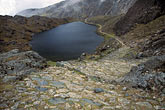 lakeside stock photography | Bolivia, Andes, Inca Trail on Taquesi Trek, image id 3-117-7