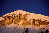 twilight stock photography | Bolivia, Sajama , Alpenglow on summit of Sajama, image id 3-154-28