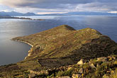 lakeside stock photography | Bolivia, Lake Titicaca, View south from Yumani, Isla del Sol, image id 3-97-5