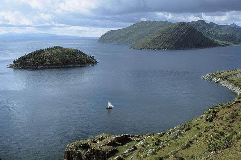 image 3-99-4 Bolivia, Lake Titicaca, Pilco Kaima ruins, Isla del Sol