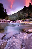 illuminated stock photography | California, Downieville, Dusk, Yuba River, image id 1-641-24