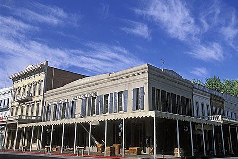 image 1-651-9 California, Sacramento, Old Sacramento storefronts
