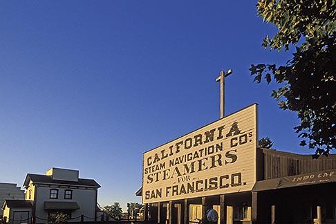 image 1-652-53 California, Sacramento, Old Sacramento, Steamer sign