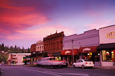 twilight stock photography | California, Grass Valley, Street scene, image id 1-662-71