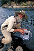 gold panning stock photography | California, Gold Country, Miner, Marshall Gold Discovery State Historic Park, image id 1-680-51