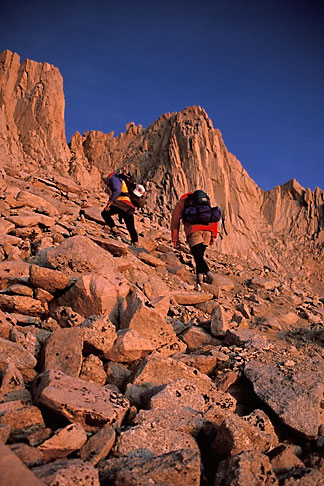 image 2-112-20 California, Mt Whitney, Climbers at dawn