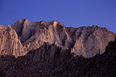 twilight stock photography | California, Mt Whitney, South face of Mt Russell, image id 2-114-13