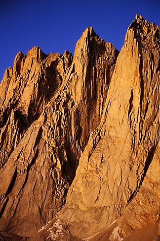 image 2-114-34 California, Mt Whitney, Keeler Needle and Day Needle at dawn