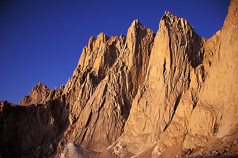 image 2-114-37 California, Mt Whitney, Keeler Needle and Day Needle at dawn