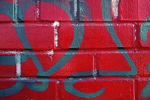 image 3-1015-20 Patterns, Red brick wall with graffiti