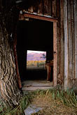illuminated stock photography | California, Mono Lake, View through barn, Dechambeau Ranch, image id 3-286-36