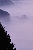 mountain stock photography | California, Big Sur, Early morning fog south of Ventana, image id 3-317-24