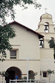 holy stock photography | California, Missions, Church and belfry, Mission San Juan Bautista, image id 3-322-36