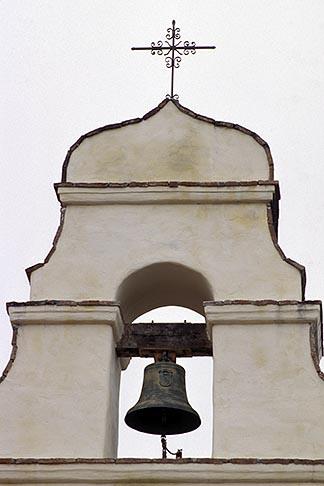 image 3-323-5 California, Missions, Belltower, Mission San Juan Bautista