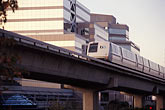downtown stock photography | California, Contra Costa, BART train near Walnut Creek station, image id 3-364-22