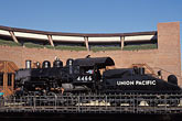horizontal stock photography | California, Sacramento, Steam engine at California State Railroad Musuem, image id 4-304-12