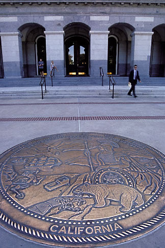 image 4-519-13 California, Sacramento, Entrance to State Capitol Building, with Great Seal
