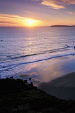 sunset over pacific ocean stock photography | California, Bodega Bay, Sunset over Bodega Head, image id 4-561-19