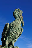 blue sky stock photography | California, Bodega Bay, Bodega Bay Lodge and Spa, pelican sculpture, image id 4-562-87