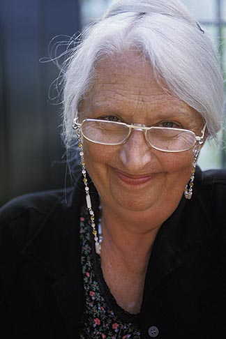 image 4-700-77 Portraits, Senior woman with glasses, silver hair, direct view