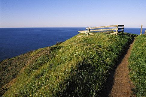 image 4-701-70 California, Marin County, Muir Beach, GGNRA, Hillside and fence