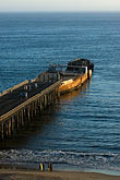 vertical stock photography | California, Santa Cruz County, Aptos, Pier and sunken ship, image id 4-775-157