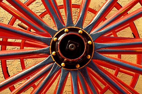 image 4-78-26 California, Benicia, Wheels of 19th century fire wagon