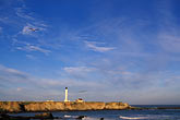 sunlight stock photography | California, Point Arena, Point Arena Lighthouse, image id 4-795-41