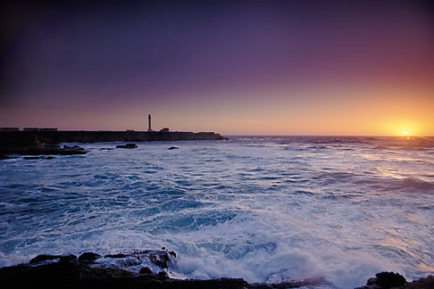 image 4-795-54 California, Point Arena, Point Arena Lighthouse at sunset