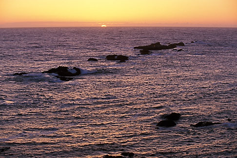 image 4-795-79 California, Point Arena, Sunset over Pacific Ocean