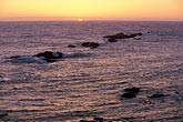 sunset over pacific ocean stock photography | California, Point Arena, Sunset over Pacific Ocean, image id 4-795-79