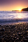 pebbly stock photography | California, Point Arena, Sunset from beach at Arena Cove, image id 4-795-93