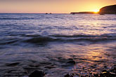 calm stock photography | California, Point Arena, Sunset from beach at Arena Cove, image id 4-795-98