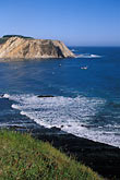 vertical stock photography | California, Point Arena, Coastal bluffs and Arena Cove, image id 4-796-10