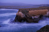 bluff stock photography | California, Point Arena, Rock arch at mouth of Garcia River, image id 4-796-18