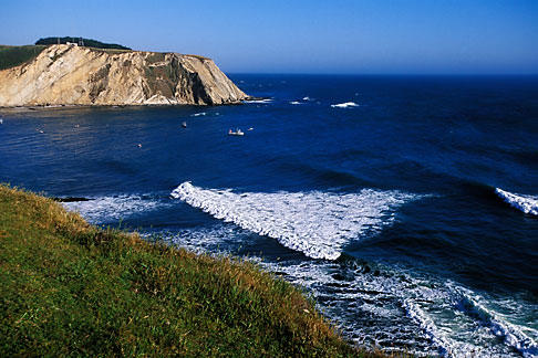 image 4-796-6 California, Point Arena, Coastal bluffs and Arena Cove