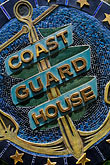vertical stock photography | California, Point Arena, Arena Cove, Coast Guard House, image id 4-796-77