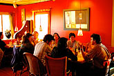 red stock photography | California, Gualala, Pangeae Restaurant, interior, image id 4-800-10