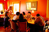 red stock photography | California, Gualala, Pangeae Restaurant, interior, image id 4-800-8