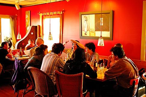 image 4-800-9 California, Gualala, Pangeae Restaurant, interior