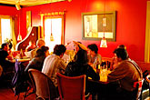 red stock photography | California, Gualala, Pangeae Restaurant, interior, image id 4-800-9