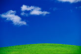 blue stock photography | California, Benicia, Clouds and hillside, image id 4-96-28