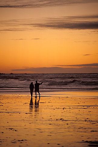 image 4-987-14 California, Pacific Grove, Asilomar State Beach, sunset