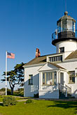 beacon stock photography | California, Pacific Grove, Point Pinos Lighthouse, image id 4-990-7780