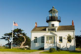 united states stock photography | California, Pacific Grove, Point Pinos Lighthouse, image id 4-990-7782